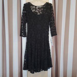 Leslie Fay Black Lace Dress